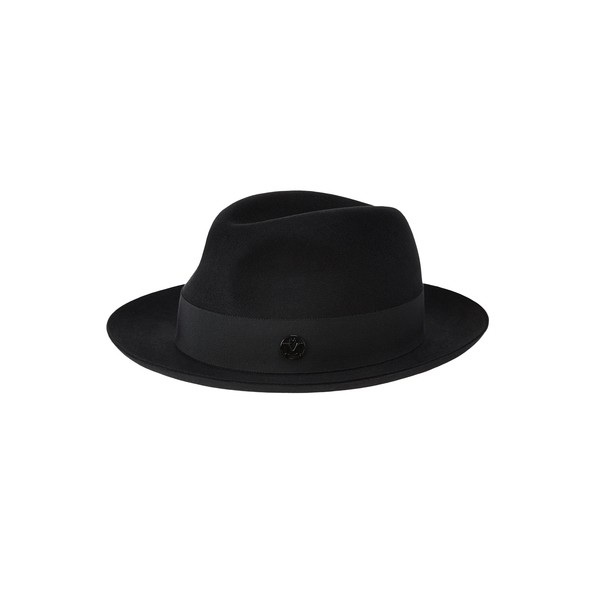 Black felt trilby hat, waterproof