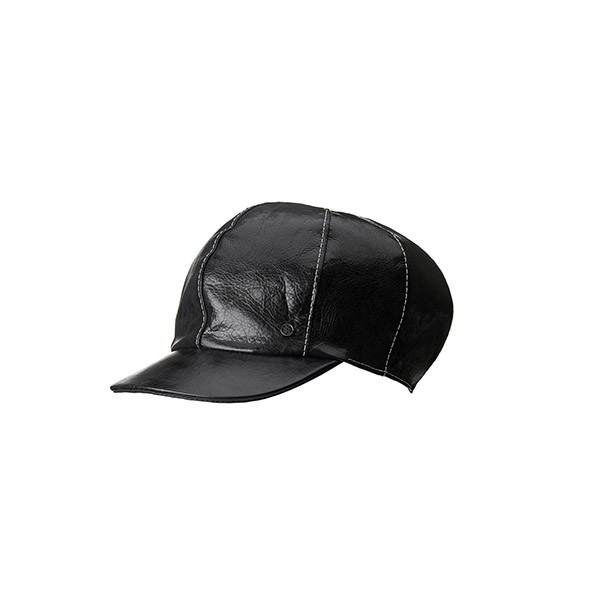Soft leather cap