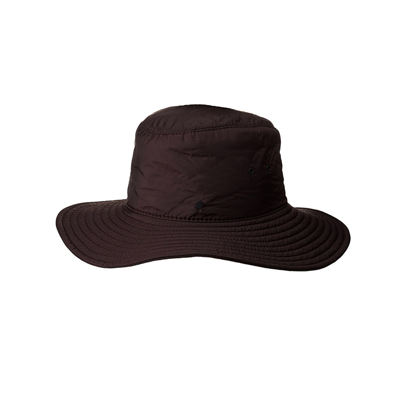 Burgundy nylon fedora, water repellent