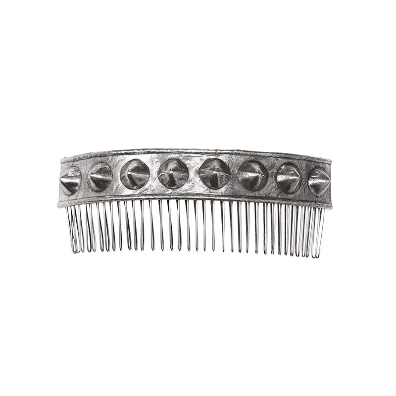 Metal comb with embellishment